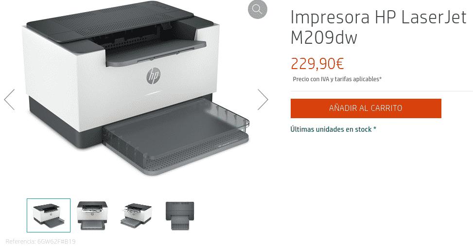 Precio Impresora HP LaserJet M209dw
