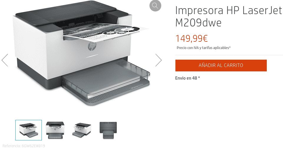 Precio Impresora HP LaserJet M209dwe