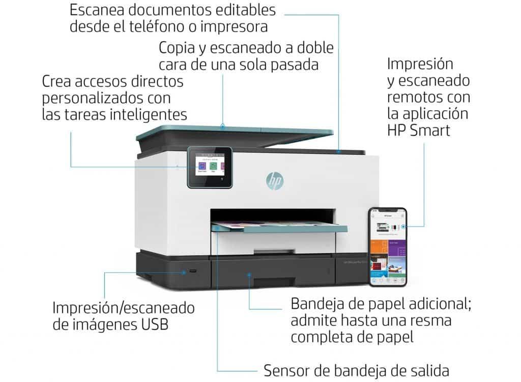 HP OfficeJet Pro 9025 funciones