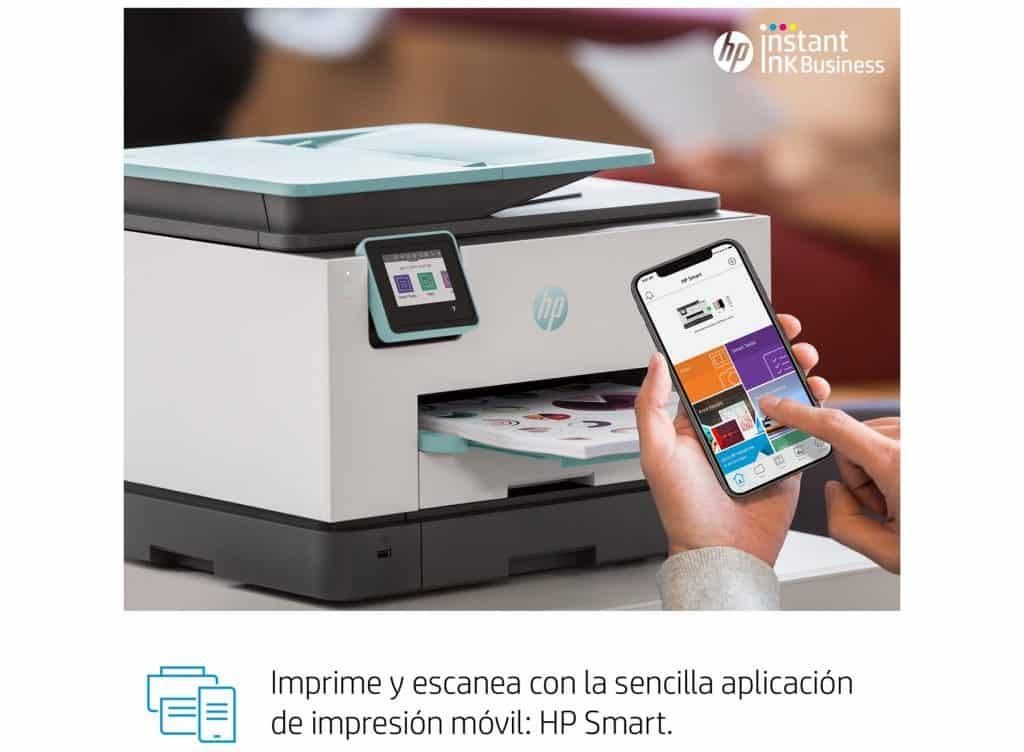 Impresora multifunción HP OfficeJetPro 9025 permite imprimir desde el movil