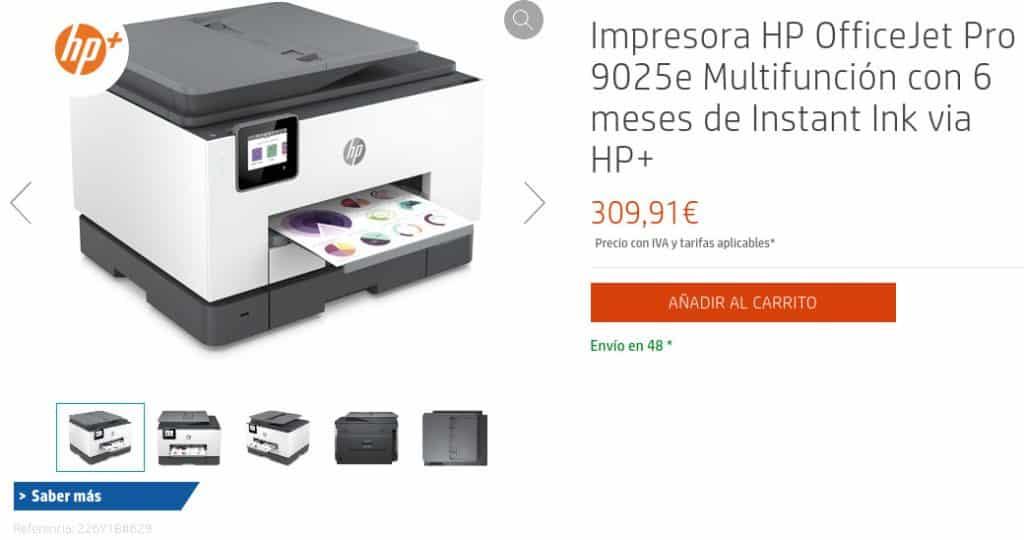 Precio Impresora HP OfficeJet Pro 9025e Multifunción con 6 meses de Instant Ink via HP+
