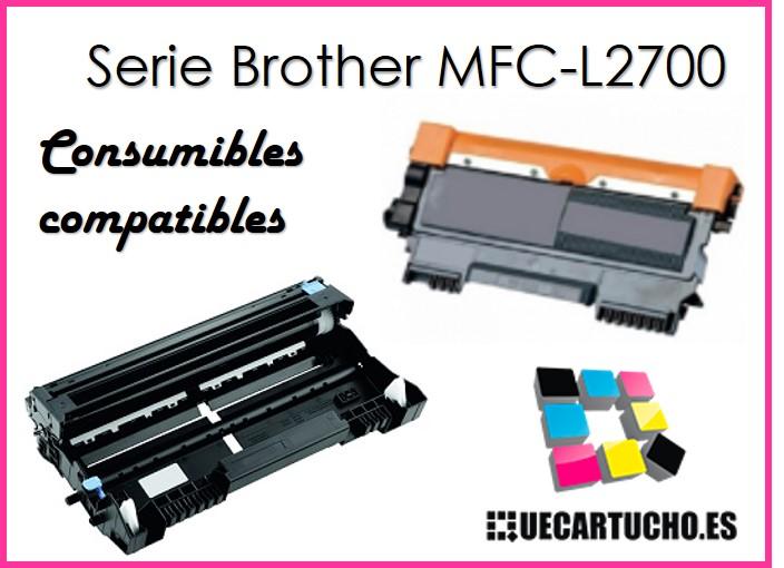 toner y tambor para impresora Brother MFC-L2700
