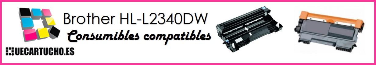 Consumibles de la Brother HL-L2340DW toner y tambor compatibles
