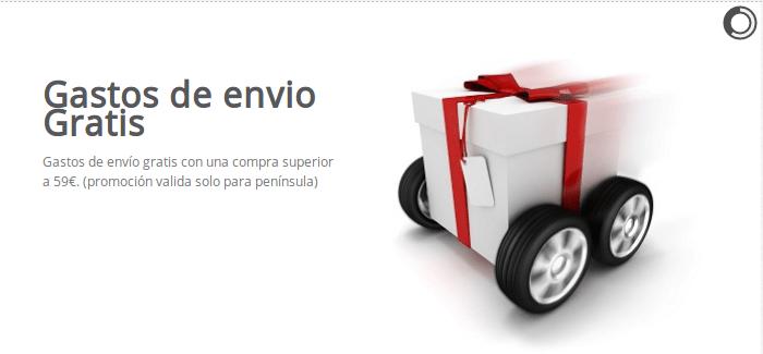 Si compras mas de 59€ en cartuchos de tinta compatibles o toner los gastos de envio seran gratis