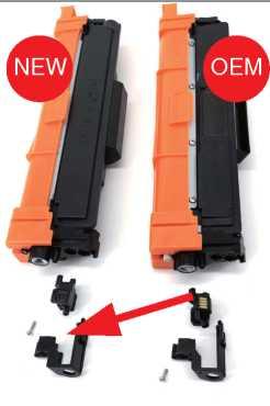 poner el chip del toner oem tn-247 a toner compatible tn-247